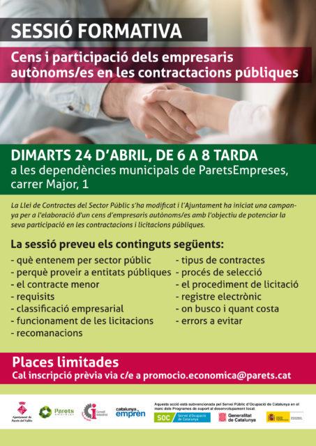 Formació en contractació pública per empresaris autònoms
